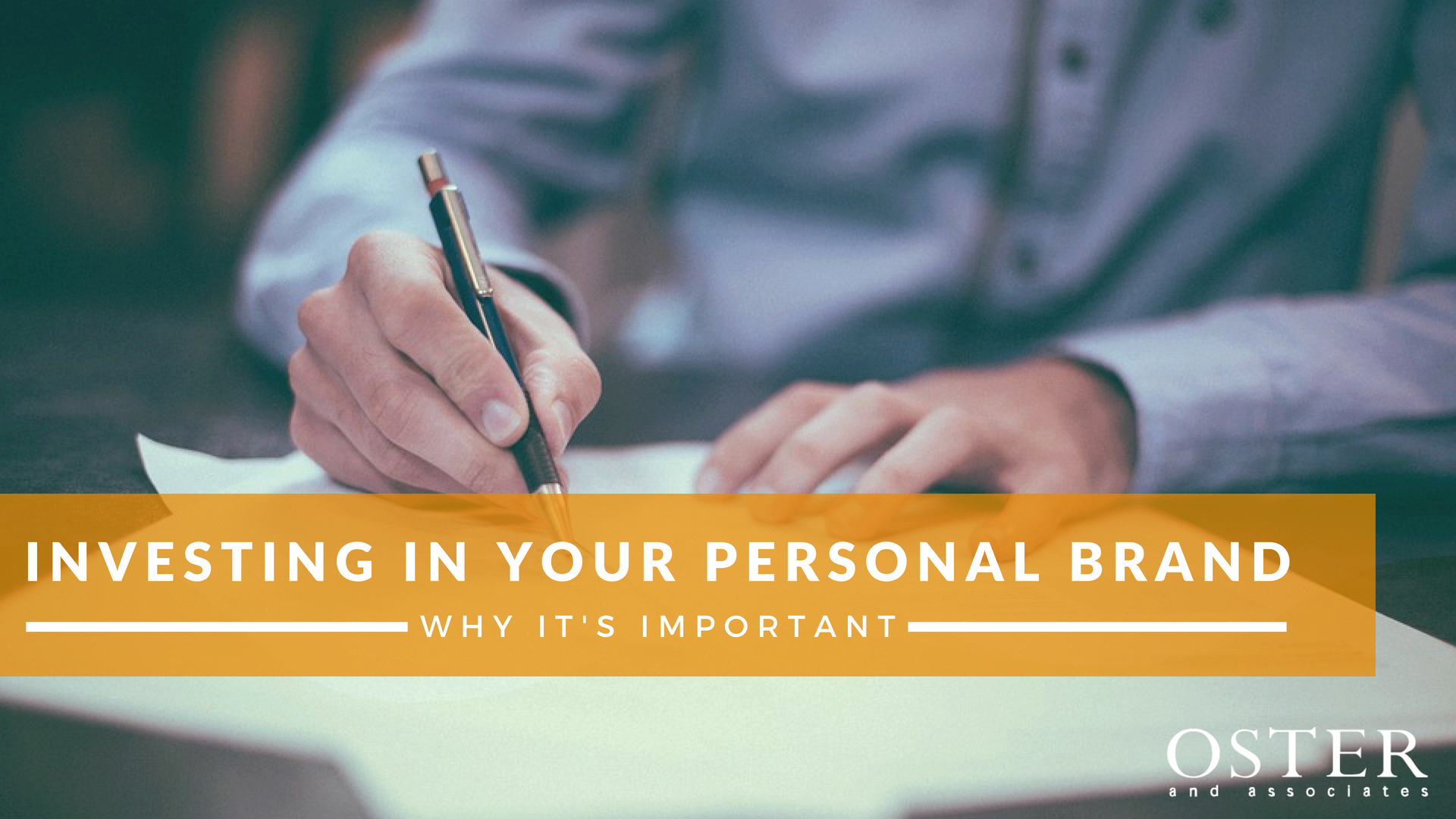 Investing in Your Personal Brand - Why it's Important